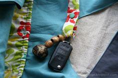 Charlie bag mit Innentasche und Schlüsselhalter von durbanvilledesign.blogspot.de