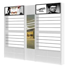 Lighting Wall Eyewear Display Counter Optical Shop Design Display Showcase Design China Made Display Showcase, Showcase Design, Beauty Salon Equipment, Designer Bar Stools, Shop Counter, Optical Shop, Shops, Latest Design Trends, China