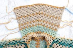 In this easy crochet sweater pattern, learn how to crochet a hood.