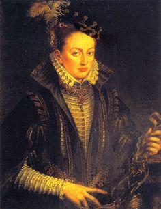 Margarita de Parma, por Antonis Mor, ca 1560? (cuando regente Países Bajos)