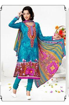 Designer Dresses, Salwar Kameez, Punjabi Suits, Bollywood Dresses: Latest Indian Salwar Suit Casual Wear Cotton Comfo...