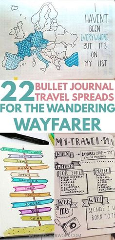 Is your goal to travel? Then you'll love these great BULLET JOURNAL TRAVEL log layout ideas and spreads. Let me take you on a journey from a bucket list wishlist, to an itinerary tracker and map page in your travelers notebook, to saving up the budget, to enjoying your travels, to capturing your memories in a scrapbook, with diary entries and doodles. Get bujo inspiration from these unique and creative travel journal ideas to plan your next getaway.