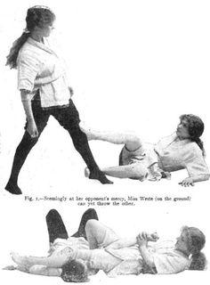 In the early 1900s, Jiu-Jitsu mania swept England and America alike. Yukio Tani, the great Japanese fighter, began to teach women the art.