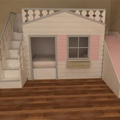 Luxury Cottage bunk beds with slide Available in a variety of colours and designs with or without a slide This can also be ordered unpainted ready