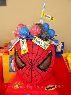 Batman, Spiderman and Ironman Birthday (Superheroes Party) Birthday Party Ideas | Photo 1 of 26 | Catch My Party