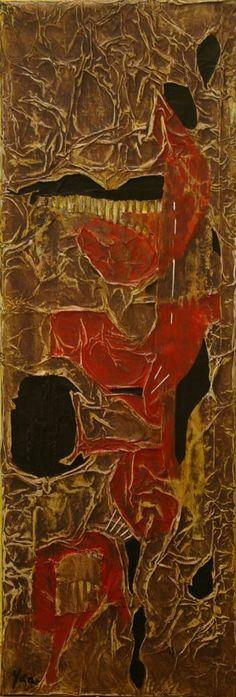 """Saatchi Art Artist Ysa Casse; Painting, """"Matières et couleurs VI"""" #art"""