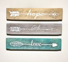 Set of 3 Wooden Arrow Hope Faith Love Sign for Wall Rustic Arrow Wooden Signs fo. Set of 3 Wooden Arrow Hope Faith Love Sign for Wall Rustic Arrow Wooden Signs for Home and Wedding Gifts Wall Decor for Bedroom Walls Rustic Nursery Decor, Rustic Decor, Farmhouse Decor, Country Decor, Bedroom Rustic, Rustic Cottage, Wooden Decor, Country Furniture, Modern Country