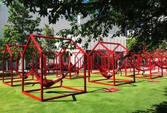 'mi casa, your casa' is a playful urban installation for the time of social distancing Installation Interactive, Interactive Design, Installation Art, Art Installations, Urban Furniture, Street Furniture, City Furniture, Landscape Architecture, Landscape Design