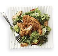 Almond-Crusted Chicken and Nectarine Salad with Buttermilk-Chive Dressing - the dressing is just okay and the chicken needs additional spices as well