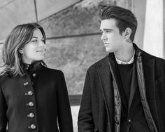 Morgane Polanski and Gabriel-Kane Day-Lewis have fun behind the scenes of the Fay Fall-Winter 2016/17 campaign shoot.