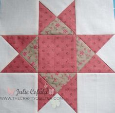 """I'm back with a tutorial on how to make quarter-square triangle units. I used them in Block 1 of the """"Paris In The Fall"""" BOM post from a few days ago. In today's tutorial, I have made them into an Ohio Star block. You will need four squares to make four quarter-square triangle (QST) units.…"""