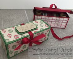 CraftyCarolineCreates: Large Useful Christmas Gift Box with Warmth and Cheer by Stampin' Up
