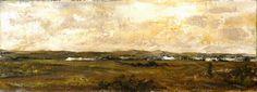 """Lalo Relinque - """"Campos de Castilla"""" - Colección Texturas - 2009 - T.mixta.Lienzo - 30x81 cm"""