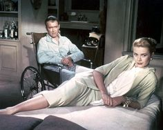 "James Stewart and Grace Kelly in ""Rear Window""- One of my favorite old movies"