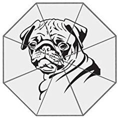 Custom Cute Bull Dog Compact Travel Windproof Rainproof Foldable Umbrella