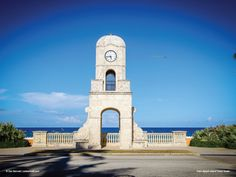 Check out our blog post for sneak peaks of our 2017 Calendar!  Palm Beach Island Clock Tower.  Photo courtesy of Zak Bennett | zakbennett.com