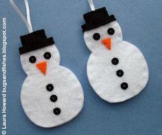 Felt Snowman Ornament- 22 Cute DIY Christmas Ornaments