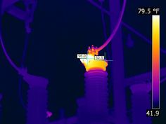 Very interesting to see it in through FLIR Thermal Imaging Camera, Cost Saving, Lineman, Electrical Equipment, Industrial, Image, Log Projects, Industrial Music