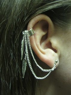 My new ear cuff with chain
