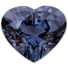 Natural Spinel step cut heart, 3.9cts. This is apparently a blue spinel.