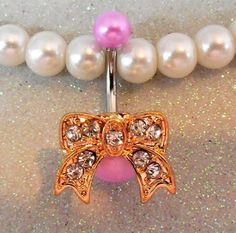 #YOUniqueDZignsArtfire on Artfire                   #ring                     #Belly #button #ring #with #pink #balls #with #pretty #gold #rhinestone #14ga                           Belly button ring with pink balls with pretty gold rhinestone bow 14ga                                  http://www.seapai.com/product.aspx?PID=680754