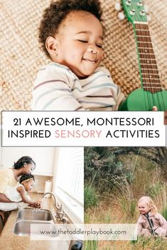 Easy Montessori inspired sensory activities for toddlers Sensory Activities Toddlers, Nature Activities, Montessori Activities, Parenting Toddlers, Fun Activities For Kids, Motor Activities, Sensory Play, Infant Activities, Activity Ideas