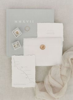 Gray wedding invitation suite: Photography: Greg Finck - http://www.gregfinck.com/