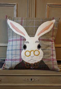 White Rabbit Tweed Cushion