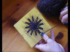 fiorellini con filo di lana ideali per spille e decorazioni varie