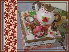 Caja de té en porcelana fría