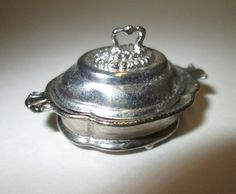 Eugene Kupjack Dollhouse Miniatures Sterling Silver Covered Serving Dish