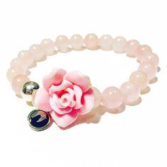 Rose Quartz / Fertility Bracelet / flower Bracelet / Healing / Yoga / Meditation / Baby Pink / Mala / Pregnancy / Holistic / Women's Gift by TheGatsbyStore on Etsy https://www.etsy.com/listing/260648416/rose-quartz-fertility-bracelet-flower