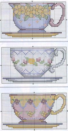 pinterest teapot counted cross stitch charts   Cross Stitch/Plastic Canvas