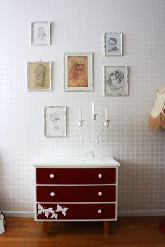 Great drawer colour scheme from sarascozynest Color Schemes, Drawers, Vanity, Colour, Bathroom, Storage, R Color Palette, Dressing Tables, Color