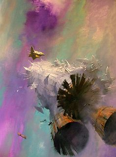 Made me think of 'The Sleeper Service' (Eccentric)  Art by John Harris