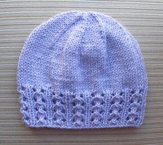 """Knitting Pattern 158 Hat Zhanna with a Lace di handknitsbyElena patterns free hats easy Knitting Pattern Hat """"Zhanna"""" with a Lace Border for a Lady Baby Hat Knitting Pattern, Baby Hat Patterns, Baby Hats Knitting, Knitting Stitches, Knitting Patterns Free, Knit Patterns, Free Knitting, Knitted Hats, Crochet Hats"""