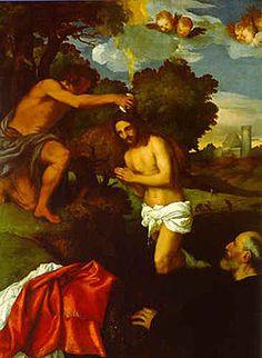 Dipinto di Tiziano citato da Marcantonio Michiel nel 1531, Pinacoteca Capitolina - Risposta 1323: Battesimo di Cristo