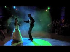 Wedding Dance. Like the effect of dark setting w/ spotlight on couple for the video