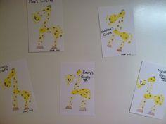 Infant Footprints: Giraffe Craft, Jungle