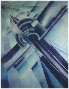 Vittorio Corona Supermarino 1927 Tempera on paper, 50 x 35cm.