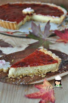 Tarta de queso con base de masa quebrada (Cheesecake with shortcrust pastry)