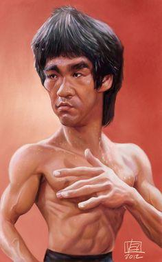 Caricatura de Bruce Lee.