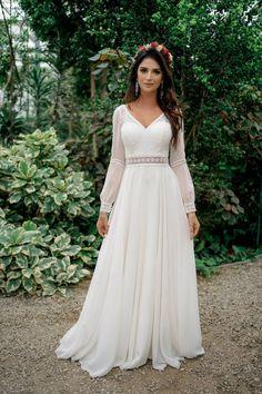 Ethereal Wedding Dress, Wedding Dress With Veil, Cute Wedding Dress, Boho Wedding, Muslimah Wedding Dress, Muslim Wedding Dresses, Bridal Dresses, Dress Muslimah, Dama Dresses