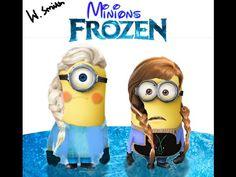 Elsa & Anna Minions - Frozen - Speed Photoshop