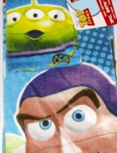 2 Pcs Toy Story Bath Towel Set Disney Pixar Films Also For The Beach