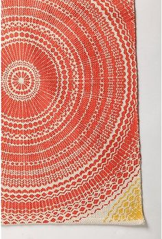 Small Radial Design Rug: the colors and texture are perfect in this
