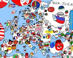 Official polandball world map 2017 polandballs countryballs polandball map of europe made by many different people from many different countries gumiabroncs Choice Image