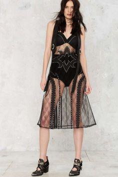 NASTY GAL - Cody Sheer Studded Dress - Clothes | Swim Shop | Midi + Maxi