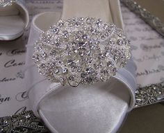 My favorite and perfect to wear on an evening out! Couture Bridal Shoes with Vintage Style by KristieAnnCouture, $159.95