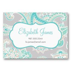 Colorful Illustrated Bohemian Paisley Henna Business Card Templates from www.sweetzoeshop.com